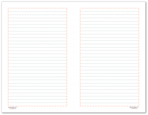 Half-Size lined note paper to match the 2018 planner colours