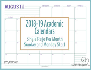 Introducing the 2018-2019 Academic Calendars!