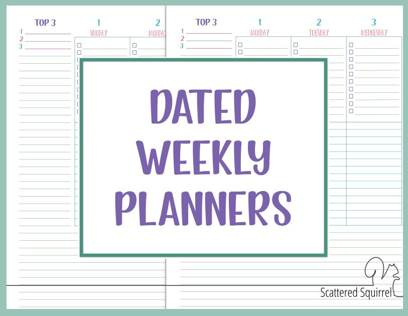 printable planner bundles
