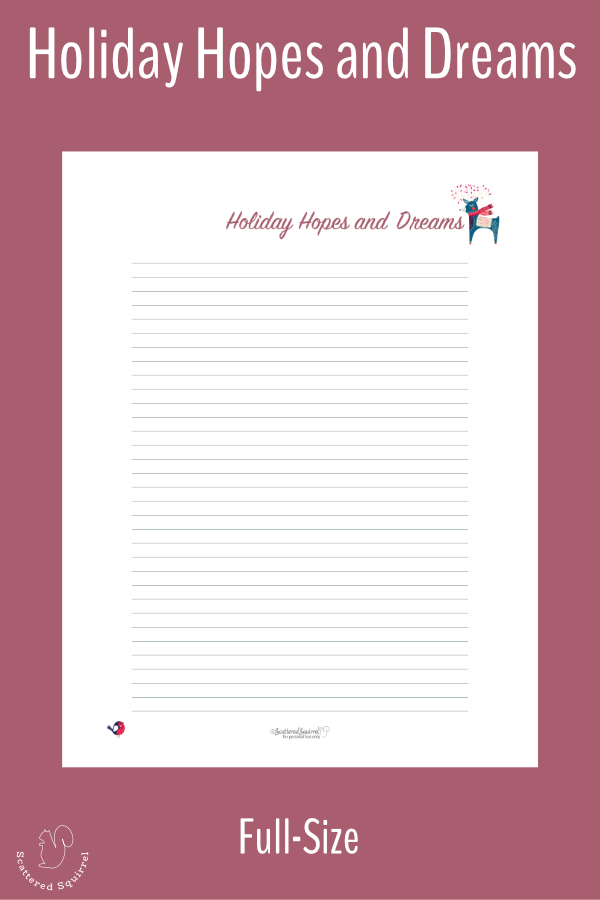 A handy, free, holiday planner printables to help you keep track of all your holiday hopes, dreams, and traditions.