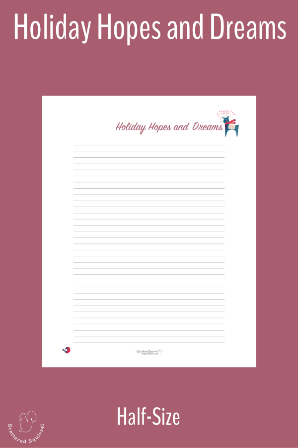 This half-size, free, holiday planner printables to help you keep track of all your holiday hopes, dreams, and traditions.