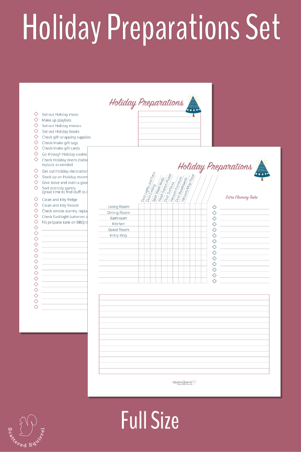 Make getting ready for the holidays a little easier with these holiday preparations checklists.