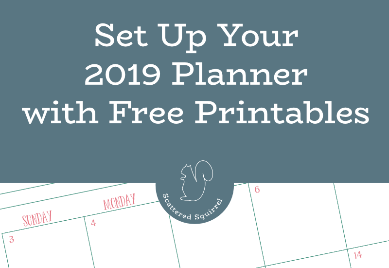 Set up your 2019 planner using these free printables.