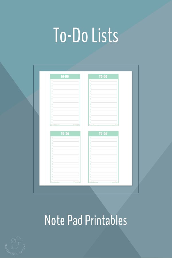 Use these mini printable to-do lists to create a to-do list pad, or punch and add them to your planner as needed.