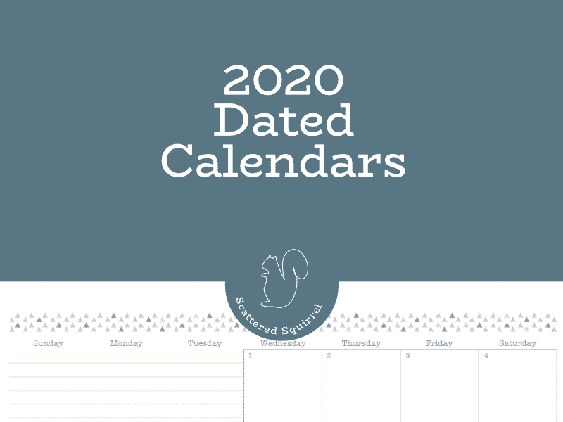 All the dated 2020 calendars can be found right here in this post.