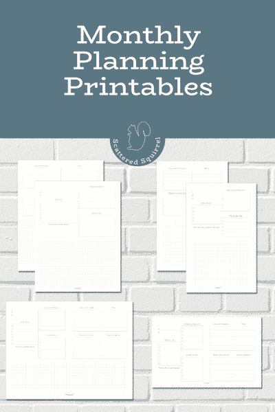 Plan a productive month without feeling overwhelmed with the help of these monthly planning printables. They were designed to help you prioritize your tasks without overloading your monthly to-do list.