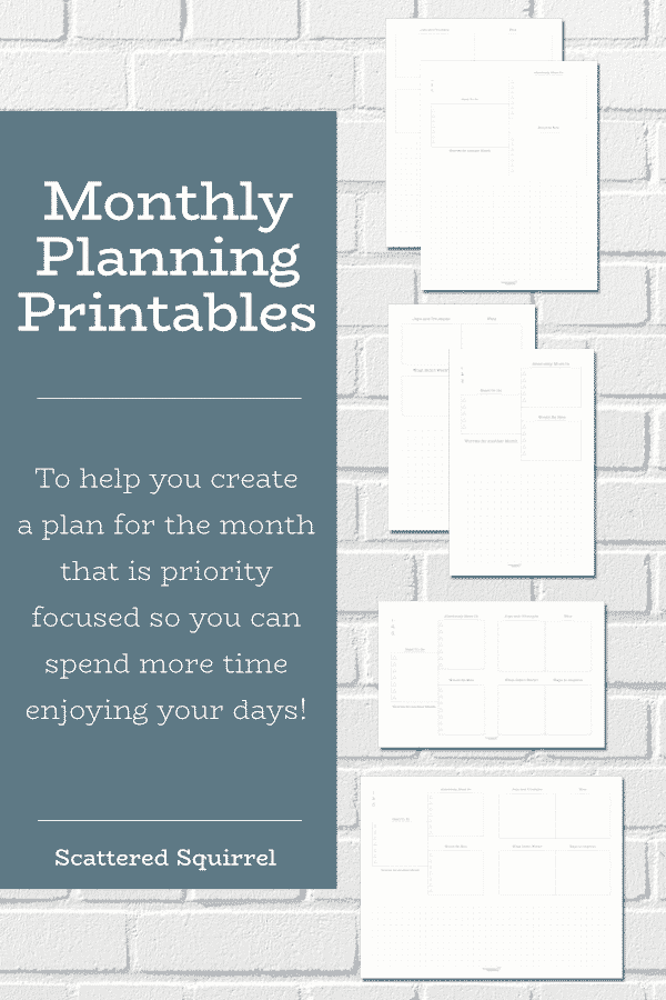 Create a to-do list for your month that is prioritized and not overwhelming with the help of these free monthly planning printables. Available in four different layouts and sizes, all designed to match our dated monthly calendars.