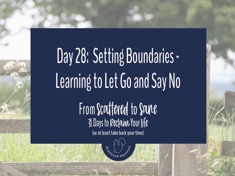 Setting boundaries is an important step in taking back control of your time.