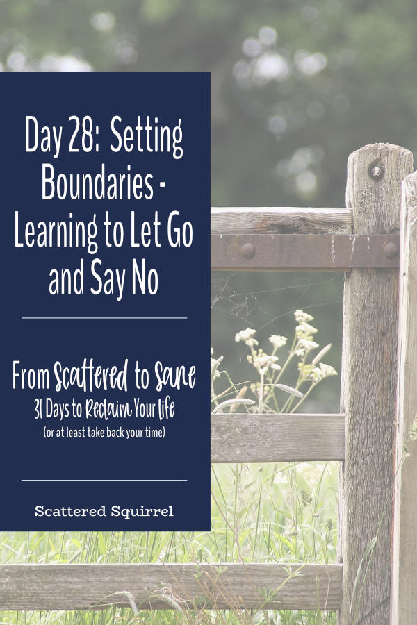 Setting boundaries helps you take back control of your time, allows you more time for the things that matter most to you, and is a great way to keep from burning the candle at both ends.
