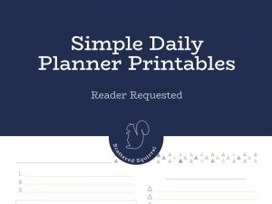 Today's reader requested Simple Daily Planners were requested by four people.