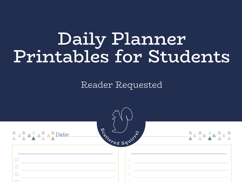 Daily planner printables for students offer customized organization to help students plan and track in a way that works best for them.