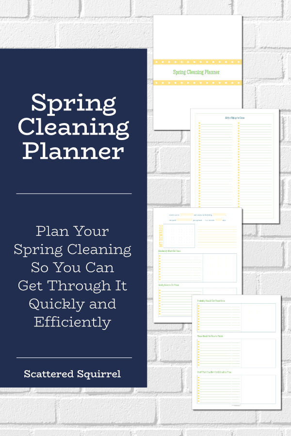 Knock out your spring cleaning quickly with the help of a spring cleaning planner. This printable planner will help you identify the things you really need to clean so you can spend less time cleaning and more time having fun.