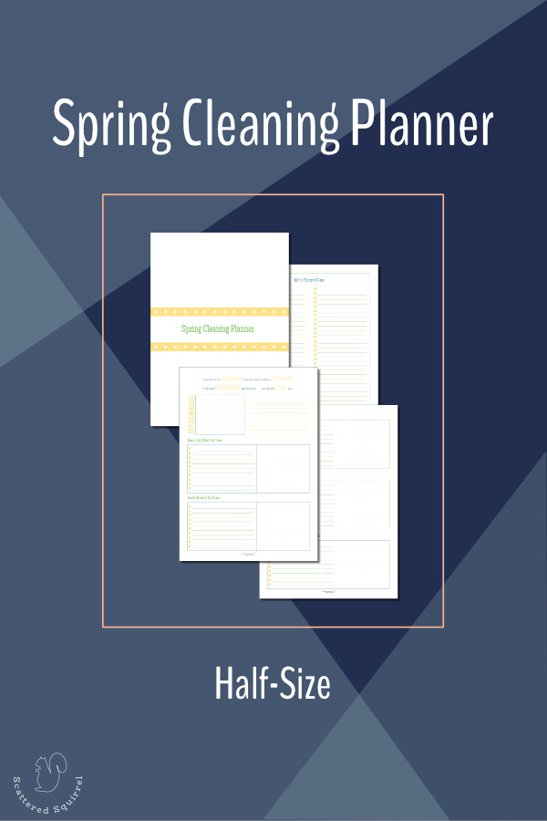 The half-size (half US Letter) spring cleaning planner will help you plan your spring cleaning so you can knock it out fast.