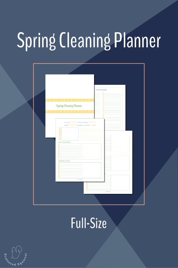 This full-size (US letter) set of printables is our Spring Cleaning Planner, designed to help you plan your spring cleaning to make it quick and efficient.