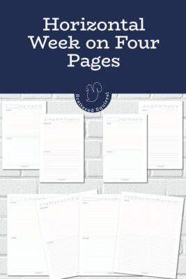 The horizontal week on four pages layout allows for lots of room to plan, memory keep, and make notes as the week goes on. They're great for students, moms, busy people or anyone who just like having a lot of room to plan with.