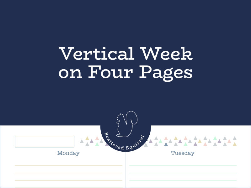 The week on four pages is a versatile planner layout that offers tons of room for writing on each day.