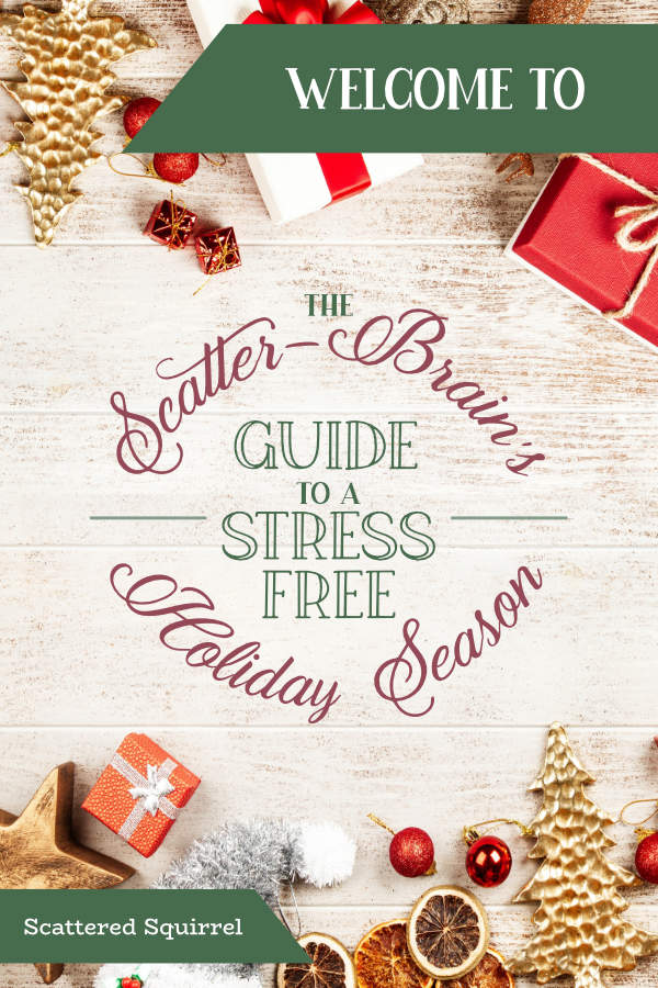The holidays don't have to be stressful. I'm kicking off my two-week series with an invitation to join our Facebook group and a couple of questions to reflect on.