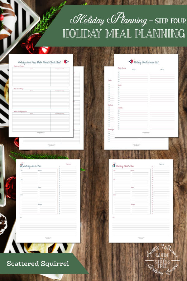 Nothing says holidays more than a good meal shared with those we love. This set of holiday meal planning printables will help you plan the perfect holiday meal.
