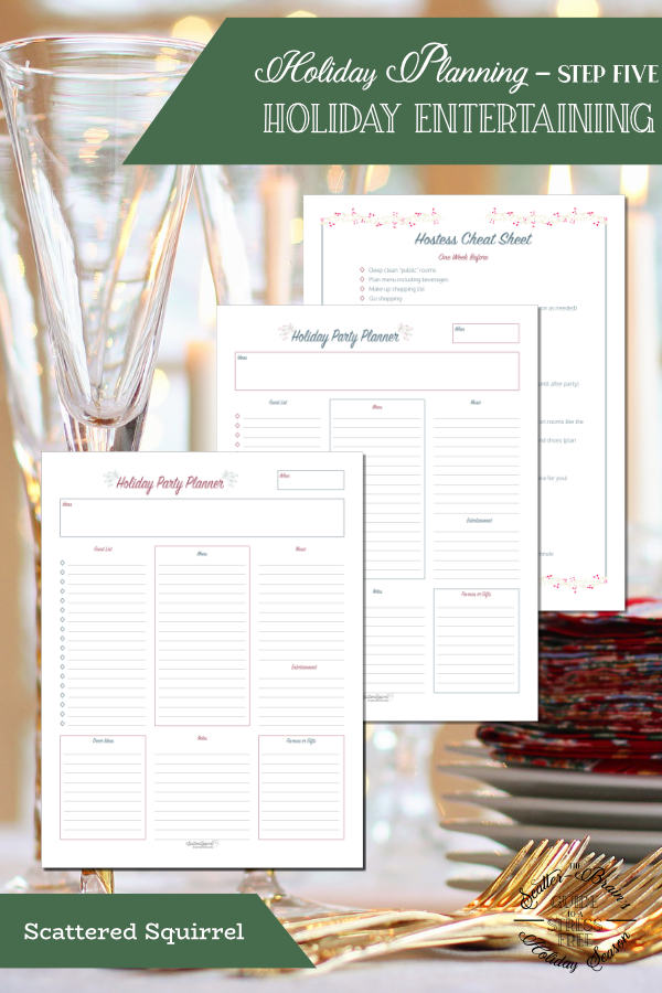These holiday entertaining planner printables will help you plan and prepare for your holiday party, helping to create a stress free holiday season.
