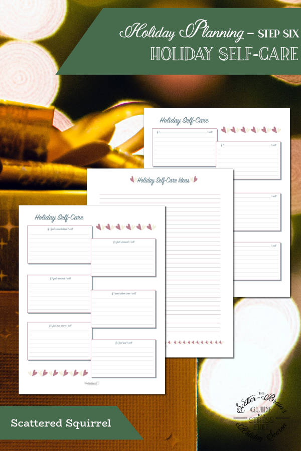 Spread some of the holiday cheer on yourself this holiday season by making self-care a priority with these holiday self-care planner pages.
