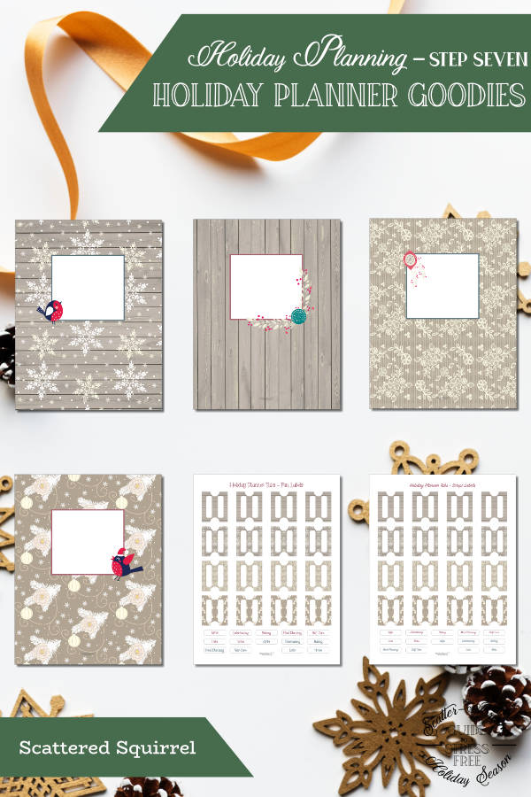 Free printable dividers and tabs for your holiday planner. Organize and decorate all at once. The printable dividers come in both full and half letter size.