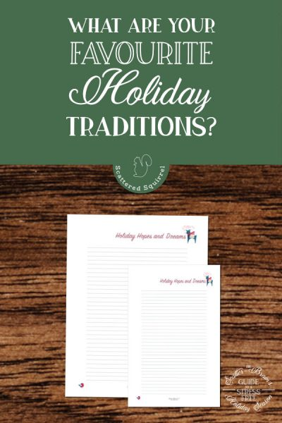 Holiday traditions are part of what makes the holiday season so magical. Jot down all favourite ones on this free holiday planner printable.