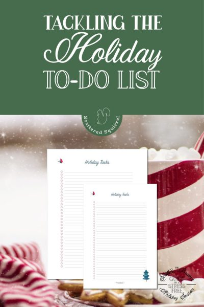 Start planning that holiday to-do list early with this free checklist printable. Not only will you be ahead of the game, but getting those thoughts down on paper takes some of the holiday stress off.