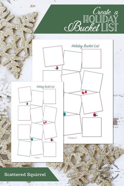 Planning for the holidays can be a little overwhelming, so it's always nice to add in a little something fun. This holiday bucket list printable is perfect for capturing those fun things you want to do this holiday season.