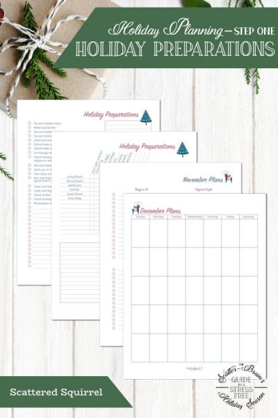 Get a jump start on your holiday planning with these holiday planner printables.