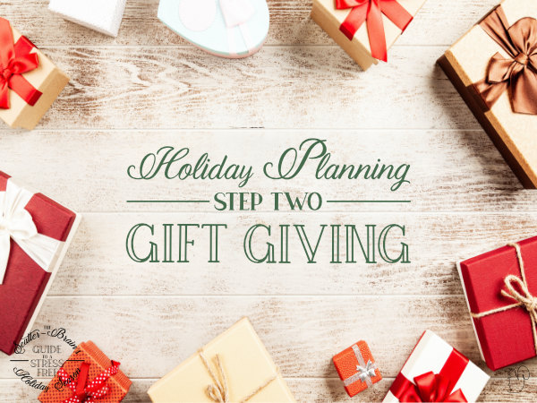 Shopping for gifts doesn't have to be stressful. With a little planning and some careful tracking it can be a piece of cake.