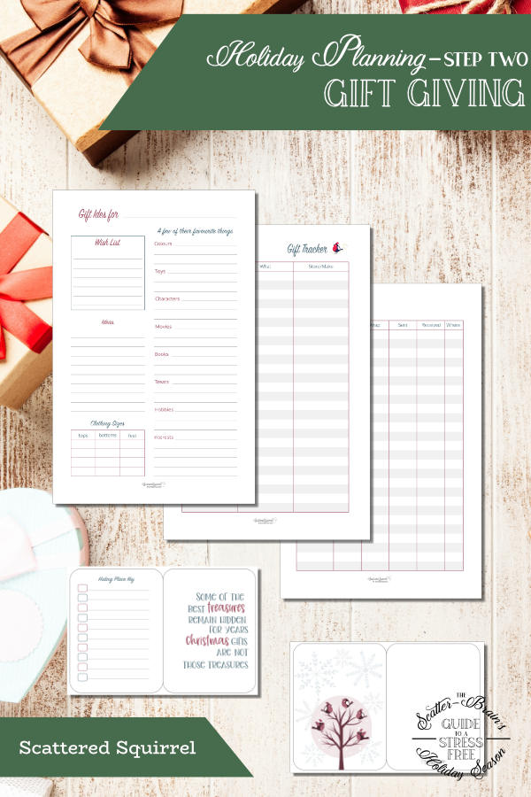 Don't let gift buying stress you out this holiday season. Use the gift-giving printable set to help you with all your gift-giving needs