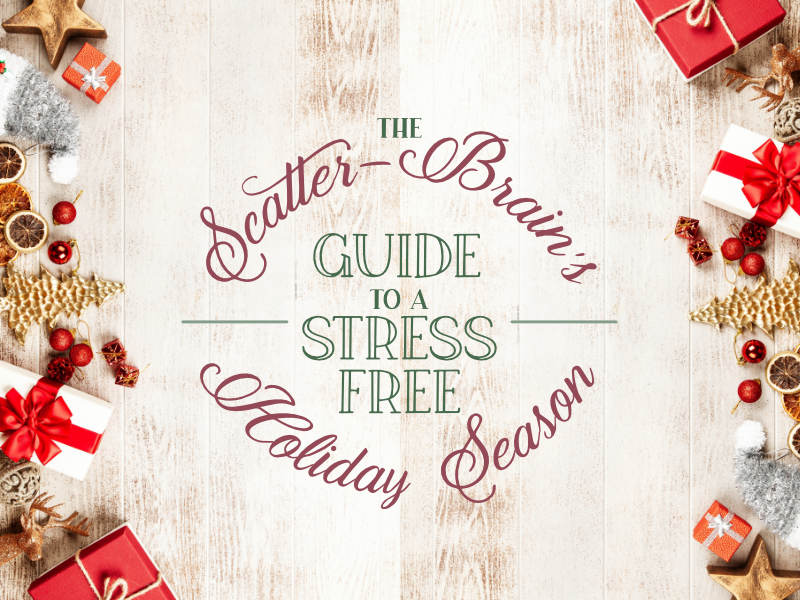 We're aiming to enjoy a stress free holiday season and it all starts today.