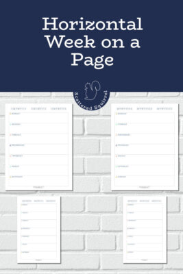 These horizontal week on a page printables are a great addition for your planner. They were designed to match the 2020 calendars and feature a Sunday or Monday start day and come in both full and half letter-size.