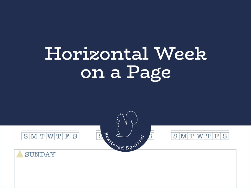 New in the Coastal Dreams collection are the horizontal week on a page printables. These weekly planners are perfect for creating a overview of what you have going on for the week.