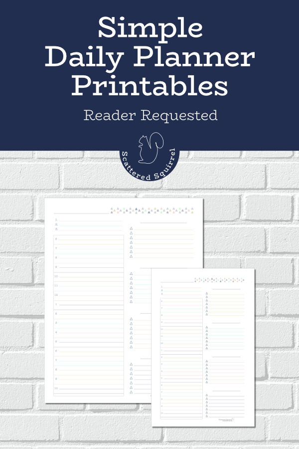 Simple daily planner printables are perfect for those days when you've got a lot going on and want to stay one track.
