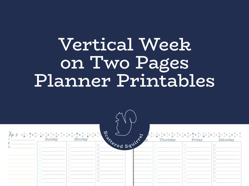 The vertical week on two pages layout is a popular layout for planners. Check out these weekly planner printables to see if they will fit your needs.
