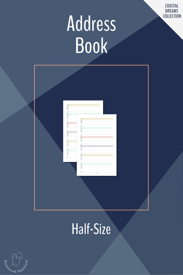 Add these half-size address book printables to your planner so that you always have important addresses right at your fingertips.