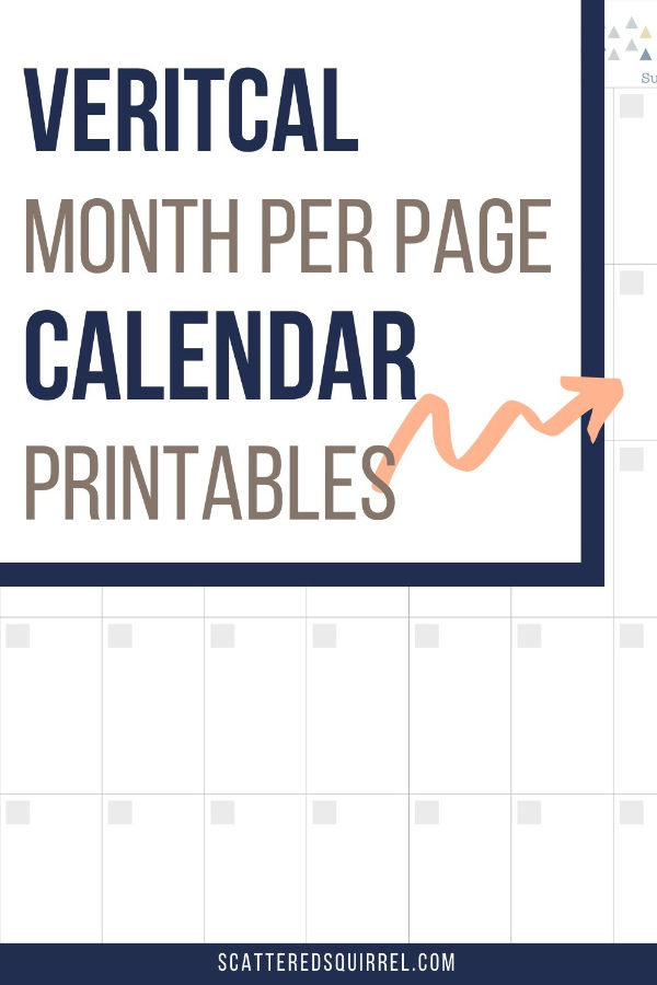 These undated page per month calendars are a perfect fit for those who like the portrait orientaion. Pair them with a note page for to-do lists for extra planning.