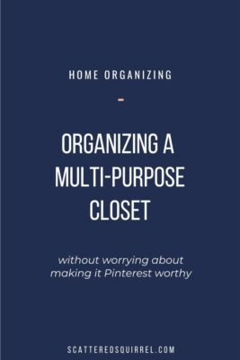 Don't let wanting to make it pretty hold you back from getting things organized. Sometimes we just need to use what we have and make it work for the time being.