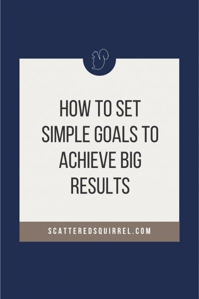 Sometimes we need to ignore the bigger picture and focus on small, simple goals to acheive big results.