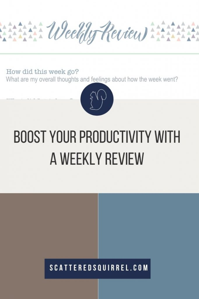 A weekly review is a valuable tool to help you boost your productivity. Use this handy printable to help you conduct a review of how you're spending your time each week so that you can find ways to make improvements.