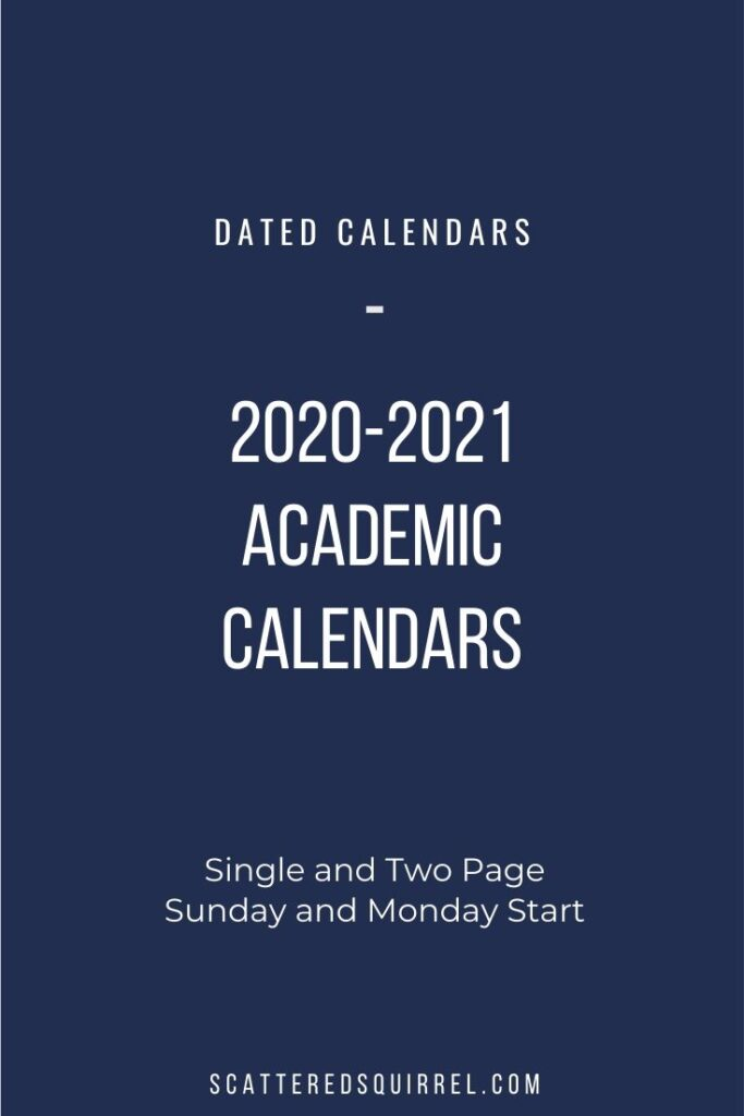 The Jewel Tone Quarters collection is kicking off the new 2020-2021 Academic Calendars. These printable calendars come in two sizes, with your choice of two different layouts as well as a Monday or Sunday start.